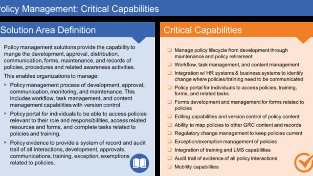 Policy Capabilities