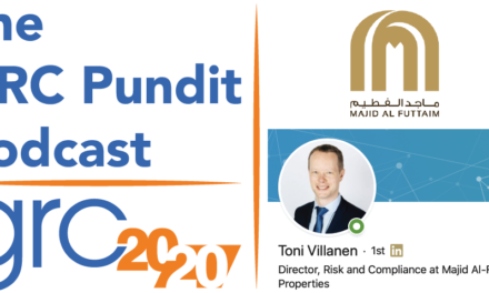 The GRC Pundit Podcast: Toni Villanen of Majid Al Futtaim