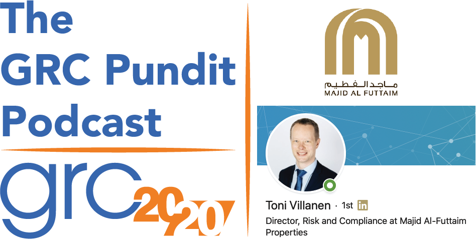 The GRC Pundit Podcast: Toni Villanen of Majid Al Futtaim
