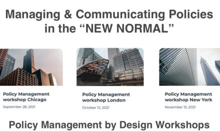 """Managing & Communicating Policies in the """"NEW NORMAL"""""""